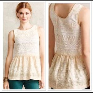 Anthropologie One September Lace Tank Top